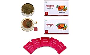 Santulya Organic Herbal Tea - 50 Unbleached Tea Bags