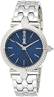Just Cavalli Animalier Blue Dial Stainless Steel Analog Watch For Women, JC1L105M0065