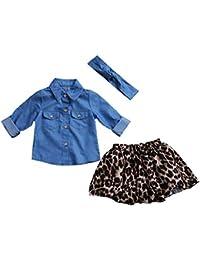 47cf022525 Ropa Bebe NiñA Verano 2 Piezas De Ropa De Moda para La Familia Que Combinan Ropa  De Madre E Hija Camisa De Vestir PatróN De Mezclilla…