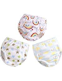 G-Kids 3er Pack Baby Windelhose Unterhose Junge Mädchen Trainerhosen Windeln Töpfchentraining Unterhosen zum Trocken Werden