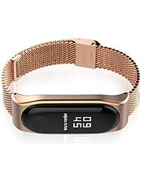 Mijobs Stainless Steel Bracelet Watch Band Strap for Xiaomi Mi Band 3 Watch
