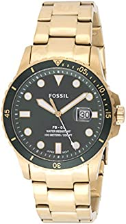 Fossil FB-01 Men's Green Dial Stainless Steel Analog Watch - FS