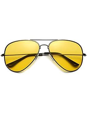 Red Peony Gafas De Sol Amarillas Conducir Nocturnas polarizadas Gafas de sol de aviador Protección UV 400