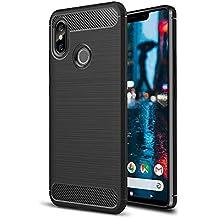 Funda Xiaomi Mi 8 Negro de Silicona dura, Carcasa Protectora para Mi8 Antigolpes y Antirayaduras