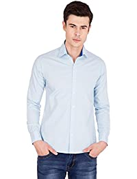 American-Elm Men's Full Sleeve Light Blue Shirts For Men