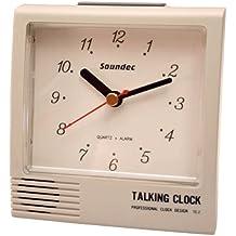 Despertador Parlante analogico y digital Color Blanco