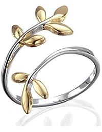 Silvity Damen Lebens-Zweigen Ring 925 Silber 909203-20