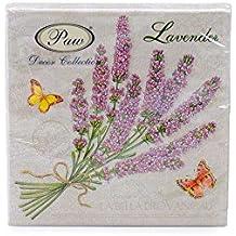"""""""Beautiful Provence""""–Pack de 20servilletas de papel–33x 33cm–3capas–floral collage Shabby Chic"""