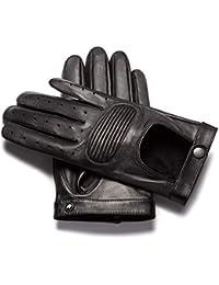 0d2eeb1bf9d170 napo gloves napoSPEED - Touchscreen Lederhandschuhe für Herren, moderne  Autohandschuhe aus Lammnappa Leder in Schwarz