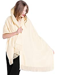 Women Oversized Large Ultra Soft Cashmere Wool Pashmina Wrap Shawl Stole Scarf