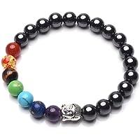 crystaltears Armband Hämatitperlen, 7 Chakra-Edelsteine, Heilkristalle, Magnettherapie-Armband mit Buddhakopf-Perle... preisvergleich bei billige-tabletten.eu