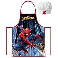 Kids Disney Marvel Spider-man Kitchen Apron + Hat Set