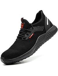 Zapatos de Seguridad Hombres con Puntera de Acero Hombre Mujer Transpirables Zapatillas de Senderismo Deportivas Antideslizante Unisex 47