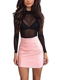 Amazon.es  faldas de cuero - Ajustada   Faldas   Mujer  Ropa 91d0f30110b2