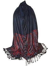 Etole Géante écharpe Pashmina et Soie - Motifs Arabesques Cachemire 121b7542306
