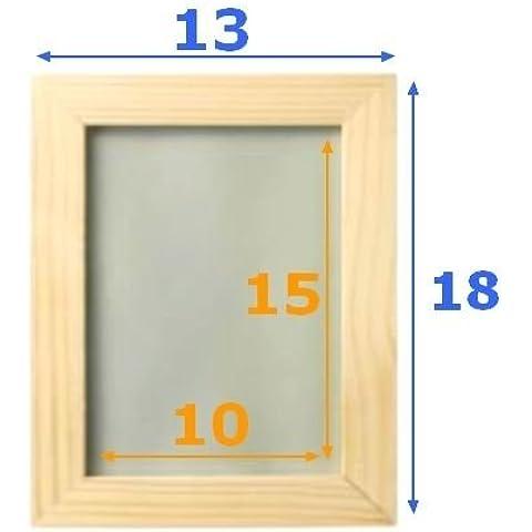IKEA Albrunna - Marco de fotos (2 unidades, madera, 13x18cm, para foto de 10x15cm, cubierta a prueba de golpes), color madera