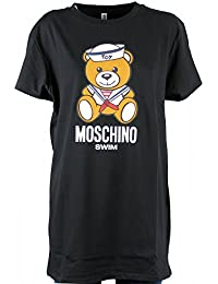 ABITO DONNA MOSCHINO SWIM VESTITO LOGO TEDDY BEAR SAILOR NERO AE18MO16 7d70ef1626b