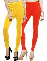 Sakhi Sang Legging Pack of 2 : Yellow & Orange