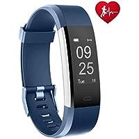 Fitness Armband Uhr, TOOBUR Fitness Tracker Armbanduhr mit Schrittzähler Herzfrequenz Schlafmonitor und Kalorienzähler, IP67 Wasserdicht Aktivitätstracker Smart Watch für Damen Herren, Smartwatch Anruf SMS Whatsapp Vibrationsalarm Beachten Kompatibel mit iOS Android Handy