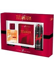 H pour HOMME Coffret Titanium Eau de Toilette 75 ml + Déo 200ml + Lotion Après Rasage 100 ml