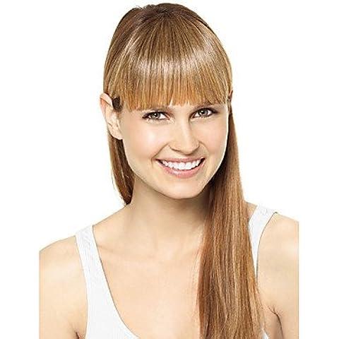 GSP-nueva franja del pelo vértice estilo flequillo flequillo clip de la extensión del pelo natural de la muchacha de pelo postizo