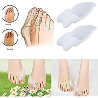 2 pcs Silicone Gel Foot Pad Fingers Two Hole Toe Separator Thumb Valgus Protective Bunion Adjuster Hallux Valgus... - preisvergleich