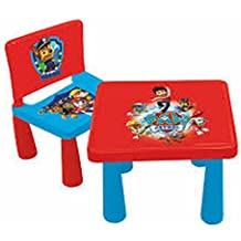 Diakakis 0503101 Ensemble Table 40x35x35cm 2 Chaises 29x27x39cm En Plastique Sous Licence Paw Patrol