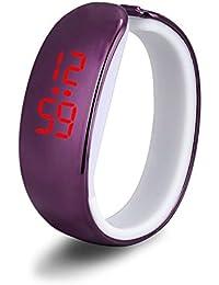 vyset (TM) superior chapado de las mujeres señoras deporte LED resistente al agua pulsera Digital reloj de pulsera may20, morado
