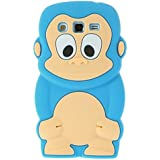 SKS Distribution® azul claro silicona mono Monkey FUNDA / CARCASA / COVER para Samsung Galaxy Grand 2 G7102 / G7106