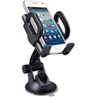 Maclean MC 659 Universal Car Mount Holder For Mobile PDA GPS Mobile Phone Holder Car Holder for Samsung Galaxy S4 S5 S4 mini S4 iPhone 6 5S, HTC One M8 M9 LG G3 G4 Sony Xperia Z2 and Other Models preiswert