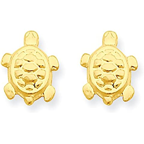 Oro 14 K Turtle post