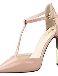 LvYuan-ggx Zapatos de mujer-Tac¨®n Stiletto-Tacones-Tacones-Casual-PU-Negro / Morado / Blanco / Gris / Desnudo , nude-us8 / eu39 / uk6 / cn39 , nude-us8 / eu39 / uk6 / cn39