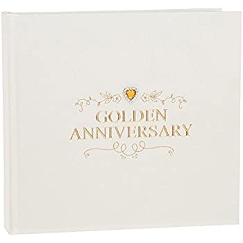 Delux 50th Wedding Anniversary Album 77985 Amazoncouk Kitchen Home