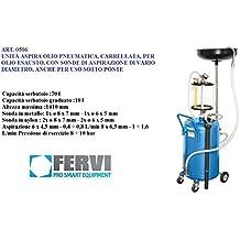 Recuperador aceite Aspirador neumático depósito de 70 litros sondas Fervi 0596