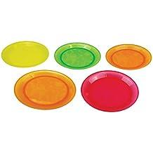 Munchkin 011390 - Pack de 5 platos para comida, surtido de colores