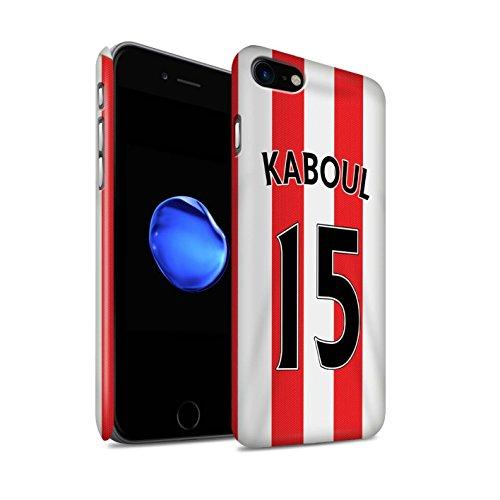 Offiziell Sunderland AFC Hülle / Matte Snap-On Case für Apple iPhone 7 / O'Shea Muster / SAFC Trikot Home 15/16 Kollektion Kaboul