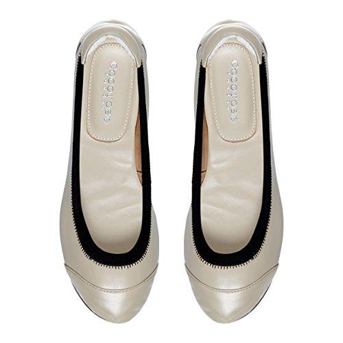 Cocorose London Scarpe Pieghevoli - Brixton Scarpe da Ballet Donna Mushroom