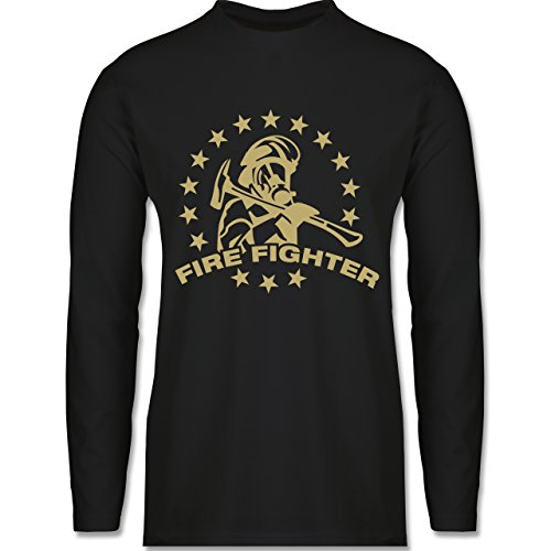 Shirtracer Feuerwehr - Fire Fighter - Herren Langarmshirt Schwarz