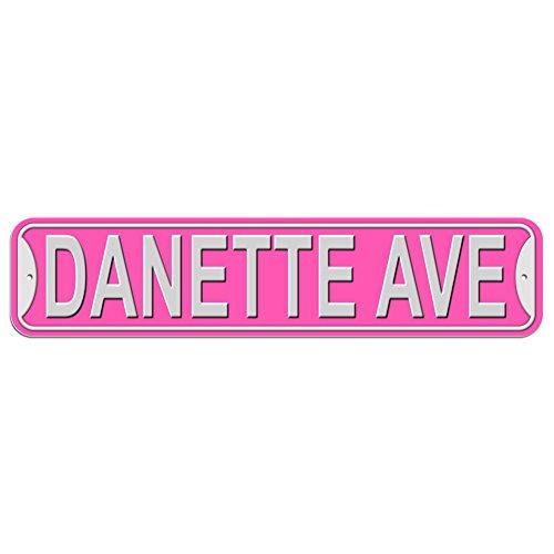 Danette Schild–Kunststoff Wand Tür Street Road weiblich Name, plastik, rose, Avenue