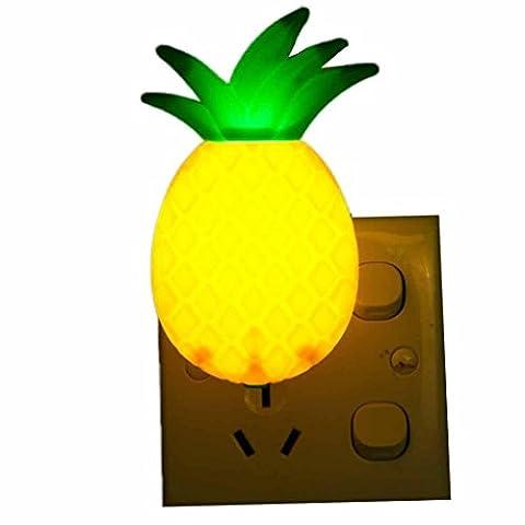 Lampes D'ambiance Angelof Led Night Lampe Interrupteur Ananas Fruit Cartoon SéRie Lampe Nuit Led Ananas LumièRe Veilleuse