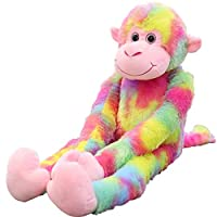 Newest!! Bloodfin Long Tail Monkey Plush Toy,31.5 inch Cuddly Plush Monkey Soft Toys Kids Stuffed Monkey Plush Animal Toys Gift for Baby Doll