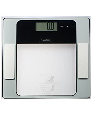 VonHaus Body Fat Scales, Hydration Monitor, Composition Analyser, Bathroom Scales - Measures Weight, Muscle, Body Fat, Hydration & Bone % Free 2 Year Warranty by vonhaus