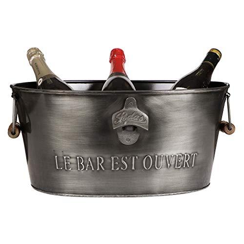 Eimer für Eis- und Champagnerflaschen, groß, Metall (Luxus-eis-eimer)