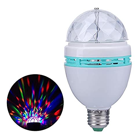 JUDYelc Voice Control Rotary Vollfarbige LED Lampe Rotierende Licht Moving Party Stage DJ Light Projektor für Disco Stage Party KTV Bars Club
