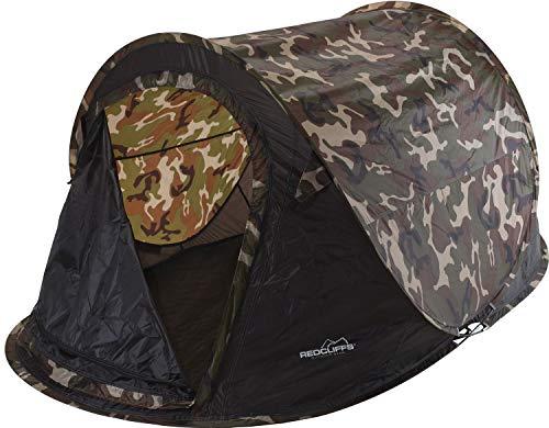 made2trade Campingzelt - Pop-Up Zelt für bis zu 2 Personen - Camouflage Design - Braun