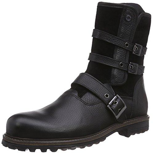 NOBRAND Waxer Herren Biker Boots Schwarz (Black)