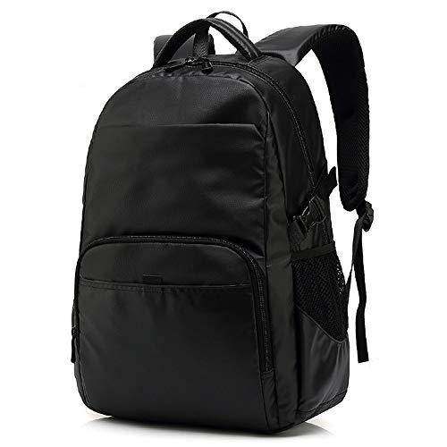 WESYY Rucksack Damen Herren Studenten Notebook Lässiger Daypacks Schüler Bag für Wandern Black -