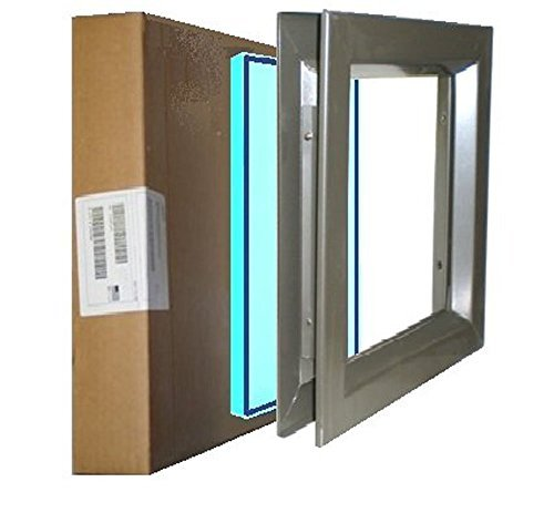 Low Profile Door Lite Kit, Dark Bronze, with Tempered Glass-Glazing, 7(W)x22(H) Door Cutout, Wood Door Lite Kit, Metal Door Lite Kit by Air Louvers -