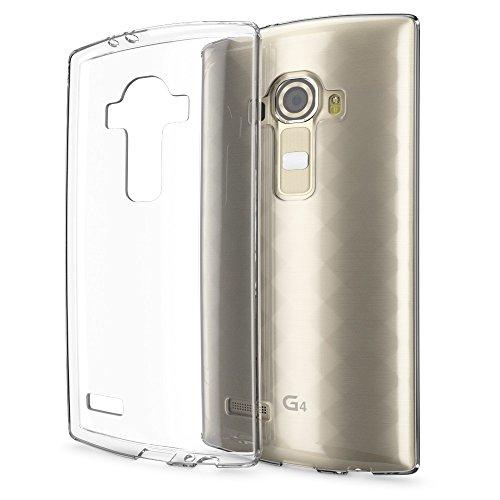 NALIA Handyhülle für LG G4, Slim Silikon Case Cover Crystal Clear Schutzhülle Dünn Durchsichtig, Etui Handy-Tasche Backcover Transparent, Phone Schutz Rückseite Bumper Silikonhülle für LG G-4