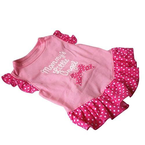 ZHONGCHENYI Pet Supplies Hund Haustier Kleid Welpen Prinzessin Tutu Kleidung Hochzeit Bogen Weste T-Shirt Kostüm Hund Kleidung, Xs